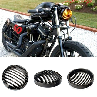 Aluminum Motorcycle Black Headlight Grill Cover For Harley