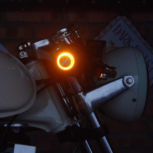 Universal Cafe Racer Motorcycle Turn Signal Indicator Light