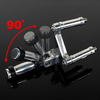 Anodized Aluminum Adjustable Motorcycle Passenger Foot Pegs