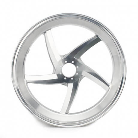 Custom Forged Aluminum CNC Motorcycle Wheel Set